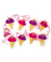Fairytales Fairylights With Ice-creams - Pink & Purple