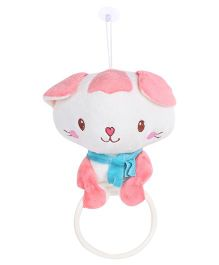 Bear Face Clip On Bath Towel Hanger Pink - 16 cm