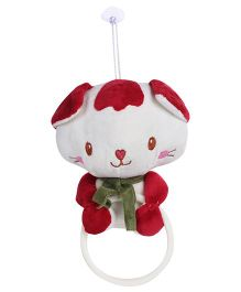 Bear Face Clip On Bath Towel Hanger Red - 16 cm