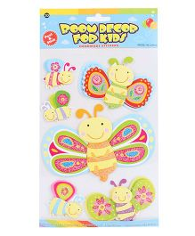 Room Decor For Kids Butterflies Theme Wall Stickers - Multicolor
