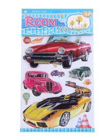 Room Decor Wall Stickers Cars Theme - Multicolor