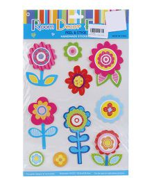 Flowers Peel And Stick Handmade Stickers - Multicolor
