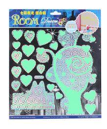 Room Decor Hearts Theme Wall Stickers - Neon Green