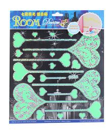 Room Decor Hearts On Sticks Theme Wall Stickers - Neon Green