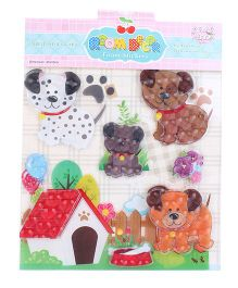 Room Decor Kids Dog And Kennel Wall Stickers - Multicolor