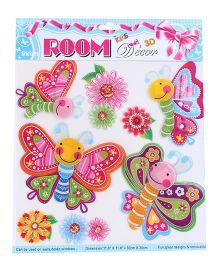 Room Decor Cute Butterflies Wall Stickers - Multicolor