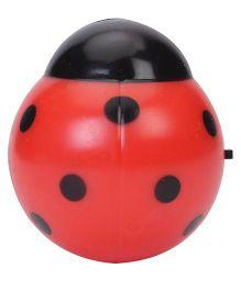LED Night Lamp Ladybug Shape - Red