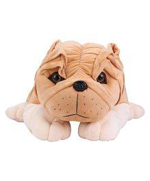 Dimpy Stuff Lying Bull Dog Brown - 65 cm