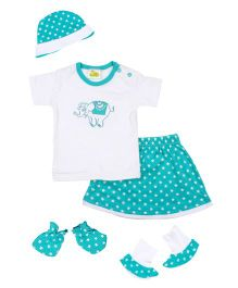 Beebop 5 Piece Baby Apparel Gift Set - Aqua Green