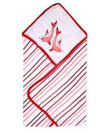 Beebop Hooded Comforter - Coral Pink