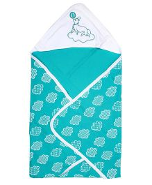 Beebop Hooded Comforter - Aqua Green