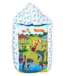 Beebop Circus Theme Convertible Carry Nest - Turquoise Blue