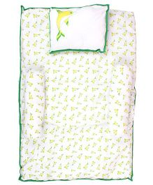 Beebop Dolphin Print Bed Set - Lime Green