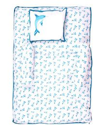 Beebop Dolphin Print Bed Set - Teal Blue
