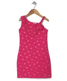 Lei Chie Sleeveless Straight Party Dress - Pink
