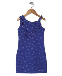 Lei Chie Sleeveless Straight Party Dress - Blue