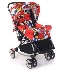 Mee Mee Pram With Rocking Base Red - MM-29