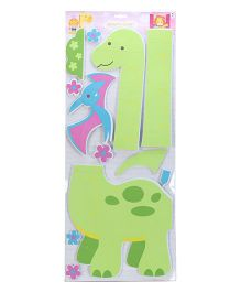 Dinosaur Print Growth Chart - Green