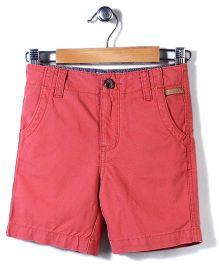 Police Zebra Juniors Solid Color Shorts - Orange