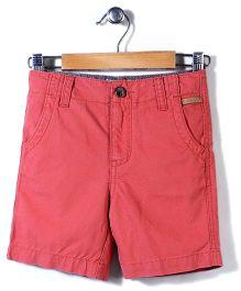 Police Zebra Juniors Solid Color Shorts - Orange