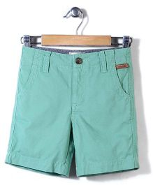 Police Zebra Juniors Solid Color Shorts - Green