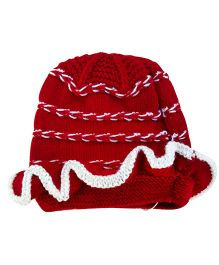 MayRa Knits Cap - Red & White
