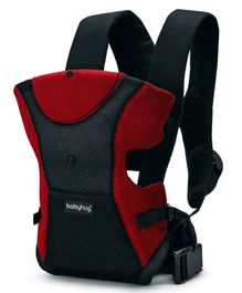 Babyhug Kangaroo Pouch 3 Way Baby Carrier - Red & Black