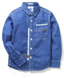 Blue Camp Full Sleeves Shirt - Denim Blue