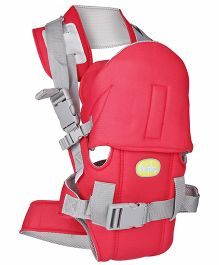 Babyhug Cozy Shell 3 Way Baby Carrier - Red & Grey