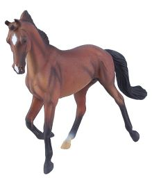 Hamleys CollectA Thoroughbred Mare Bay Toy Figure - Brown