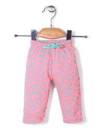 Kanvin Full Length Star Print Leggings - Pink