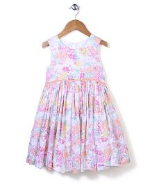 Mothercare Sleeveless Floral Frock - Multicolor