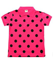 Exclusive Half Sleeves T-Shirt With Dotted Design