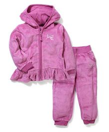 Mothercare Hooded Top And Pant - Pink