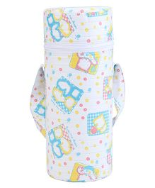 Insulated Single Bottle Bag Bear Print - Multicolor
