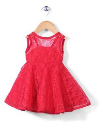 The Kidshop Flower Print Dress - Red
