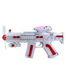 Smiles Creation Space Light Gun - Silver And Red