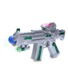 Smiles Creation Space Light Gun - Green And Silver