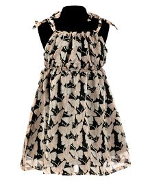 Pixi Butterfly Print Dress - Black