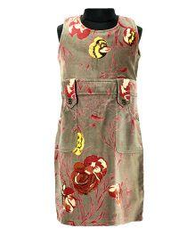 Pixi Floral Print Shift Dress - Brown