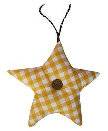 Kadambaby Star Shape Hanging Decor Checks - Yellow