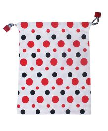 Kadambaby Polka Dot Gift Bag - Red And White