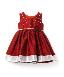 ISM Stylish Party Dress - Maroon