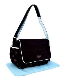 Mother Bag With Changing Mat - Black and Blue