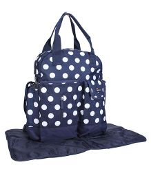PolKa Dot Mother Bag With Changing Mat - Navy