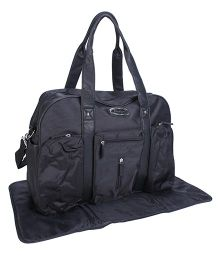 Mother Bag With Changing Mat - Black