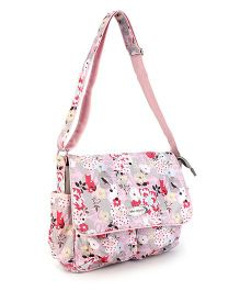Mother Bag With Changing Mat Multi Print - Pink