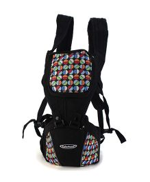 Colorland 3 Way Hipseat Baby Carrier Circle Print - Black