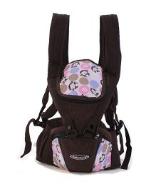 Colorland 3 Way Hipseat Baby Carrier Monkey Print - Pink & Brown