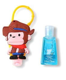 EZ Life Monkey Sanitizer With Holder - Multicolor